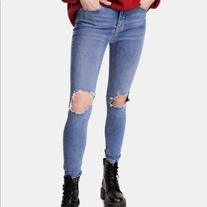 Free People Busted Knee Ripped Jeans